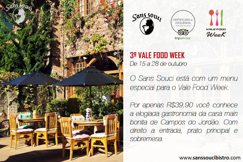 Sans Souci no Vale Food Week 2015